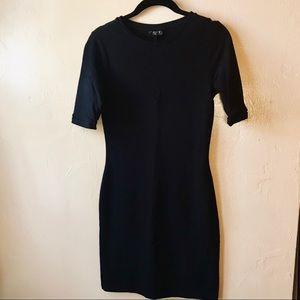 Top Shop Bodycon Jersey Black Dress
